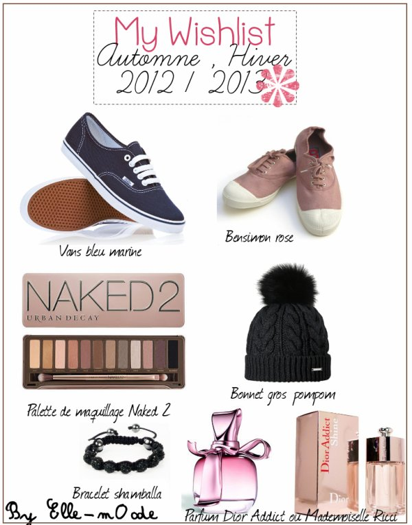 My Wishlist d'Automne Hiver 2012/2013