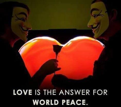 l'amour est la réponse pour un monde de paix .