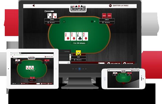 Jeu de poker gratuit sans installation, sans dépôt avec de l'argent à gagner