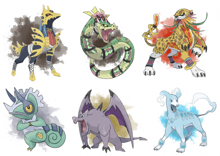 Pokemon : Variation de types (régional variant)