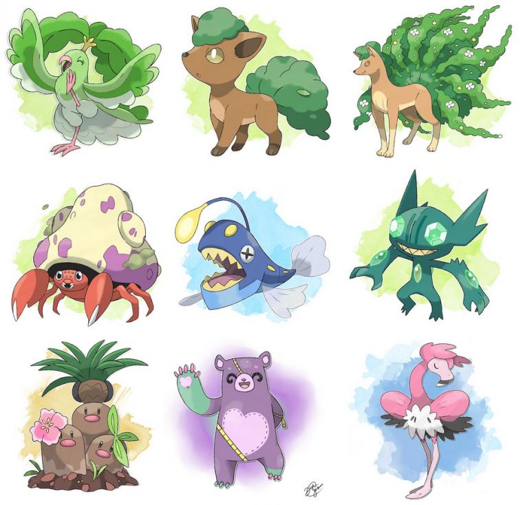 Pokemon : Fakemons & Variation de types (régional variant)