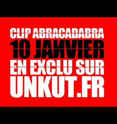 """NOUVEAU CLIP """"ABRACADABRA"""" DISPONIBLE LE 10 JANVIER"""