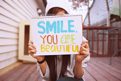 SMILE. you're beautiful
