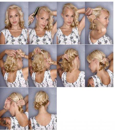 Tuto cheveux courts
