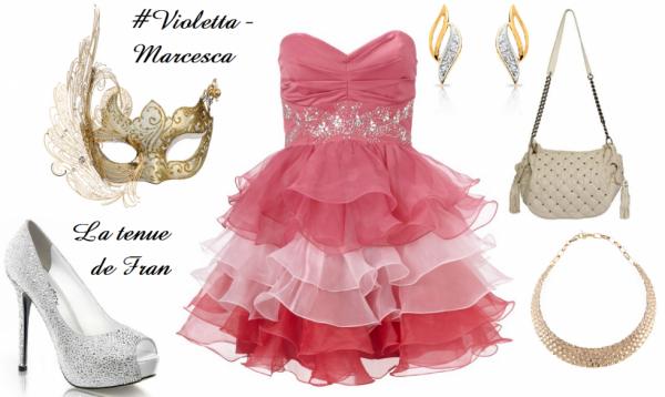la tenue de bal masqu pour violetta marcesca blog de. Black Bedroom Furniture Sets. Home Design Ideas