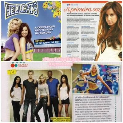 ◇ Voici des scans de trois articles de Hellcats du magasine brésilien Teen Magazine du numéro du mois de Juin.