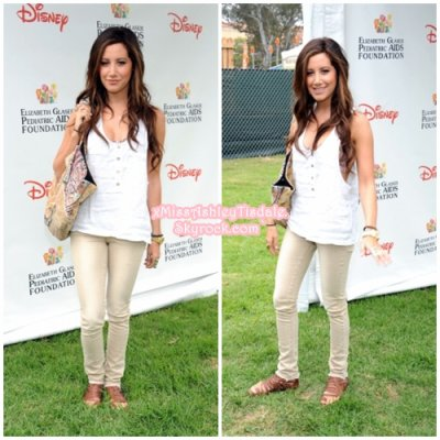 12 Juin 2011 ◇ Ashley s'est rendue au 22 ème « A time for Heroes » organisé par Disney.