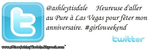15 Juillet 2011 ◇ Ashley célébrait encore une fois son anniversaire, celui-ci ce faisait au Pure Nightclub du Caesars Palace à Las Vegas.