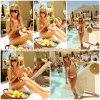 16 Juillet 2011 ◇ Ashley continuait de fêter ses 26 ans en profitant de la piscine et du soleil à Las Vegas au César Palace.