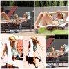 31 Juillet 2011 ◇ Ashley se relaxant à la piscine de son hotel à Miami.