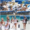 1er Août 2011 ◇ Ashley et Julianne Hough, bronzant sur une plage privée a Miami.