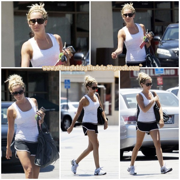 3 Août 2011 ◇ Ashley arrivant à la gym Equinox dans West Hollywood.