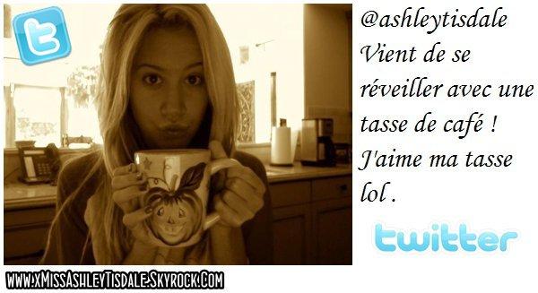 17 Août 2011 ◇ Ashley a poster une nouvelle photo sur twitter.