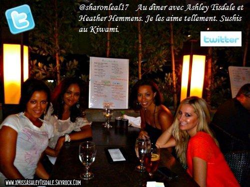 23 Août 2011 ◇ Ashley était au restaurant avec Sharon Leal et Heather Hemmens ses anciennes co-stars de Hellcats.