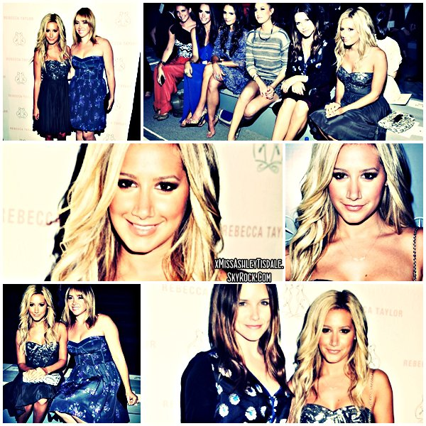 09 Septembre 2011 ◇ Ashley s'est rendue à l'évènement « Luca Luca - Spring 2012 Mercedes-Benz Fashion » à New York.