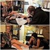 7 Septembre 2011  ◇ Séance de tatouage avec Vanessa Hudgens.