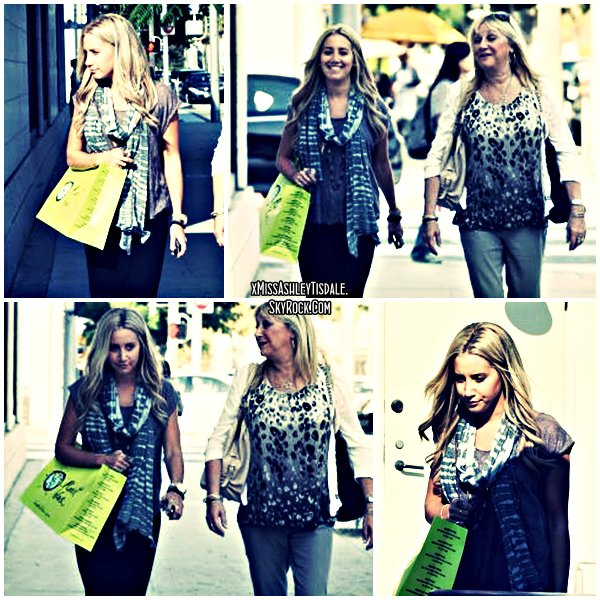 14 Septembre 2011 ◇ Ashley sortant du magasin Planet Blue de Beverly Hills.