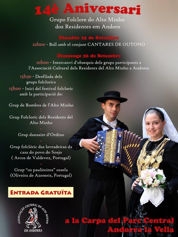 14º Aniversario do Grupo Folclorico dos residentes do Alto Minho em Andorra