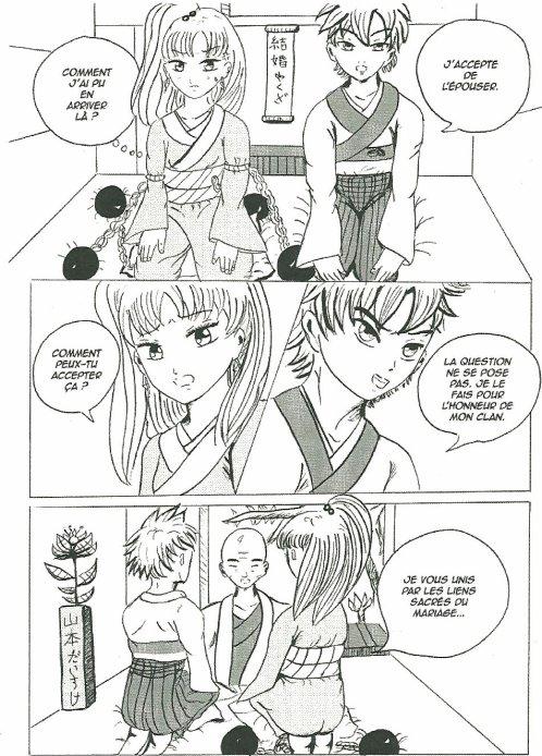 mon manga que j'ai fais au stage de dessin manga à l'espace japon