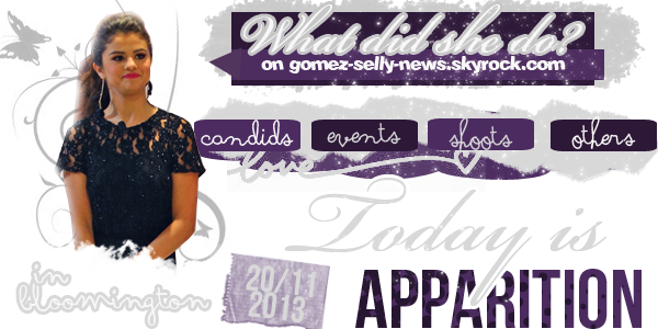 #Post 107 // apparitions, divers, show, candids, news ♥
