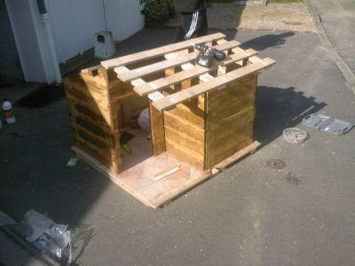Comment construire une niche avec des palettes - Construire avec des palettes ...