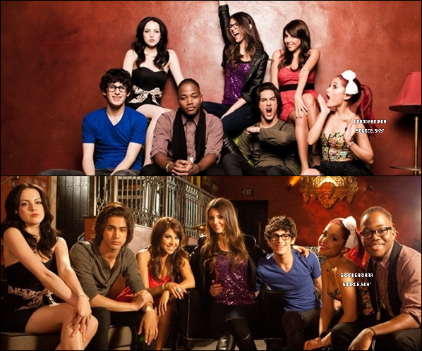 Tweet time avec Cat + un mini photoshoot du cast de « Victorious » pour Walmart + la pochette de l'album « Victorious BO ».