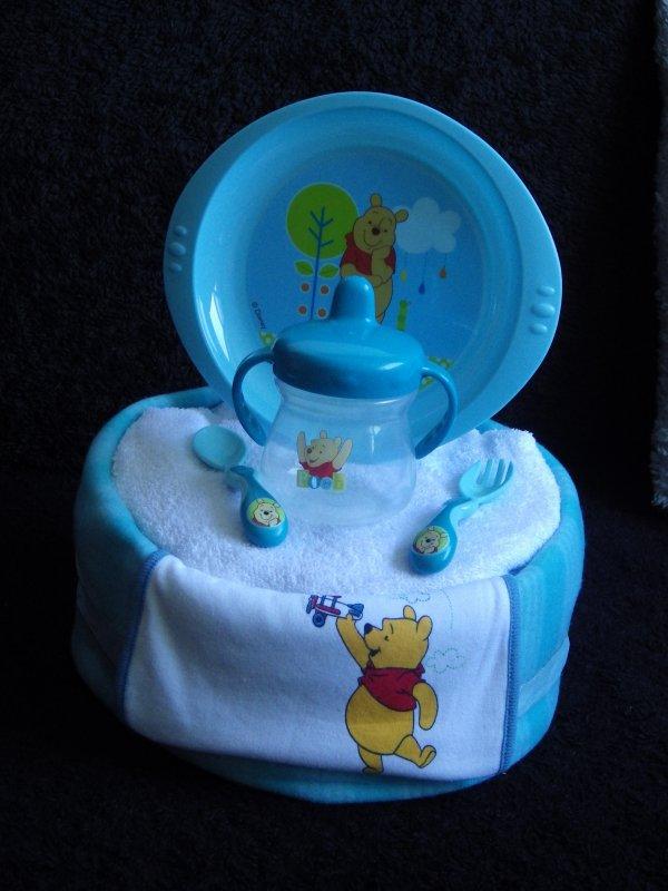 gâteau repas Winnie bleu