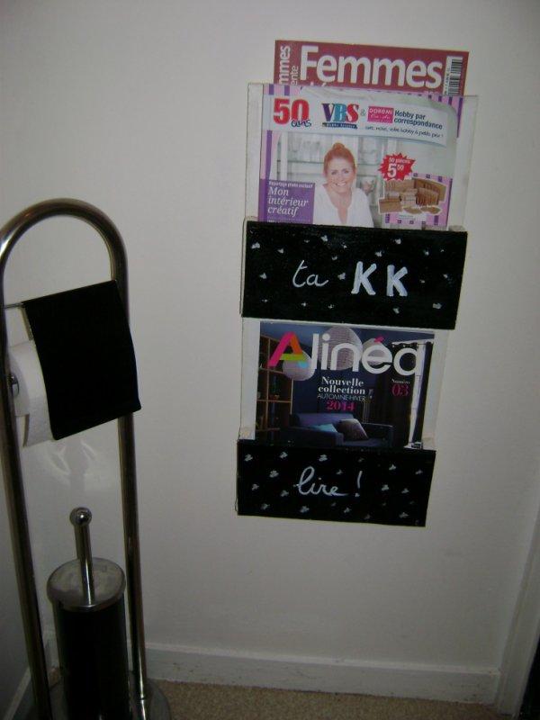 Un porte revue de fabriquer et un tableau avec des journaux skyblog de momo - Fabriquer un porte revue ...