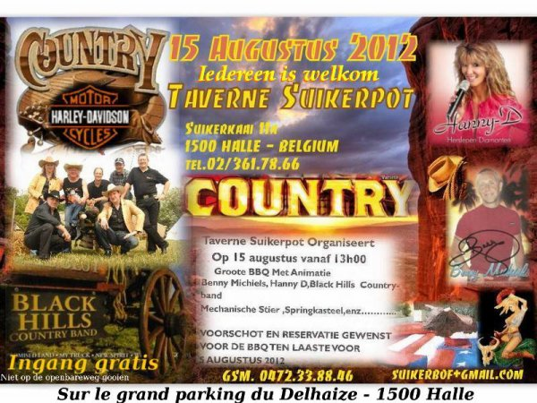 Black Hills Country Band - entrée gratuit et tout le monde est le bienvenue. Avec en visite Club Harley-Davidson