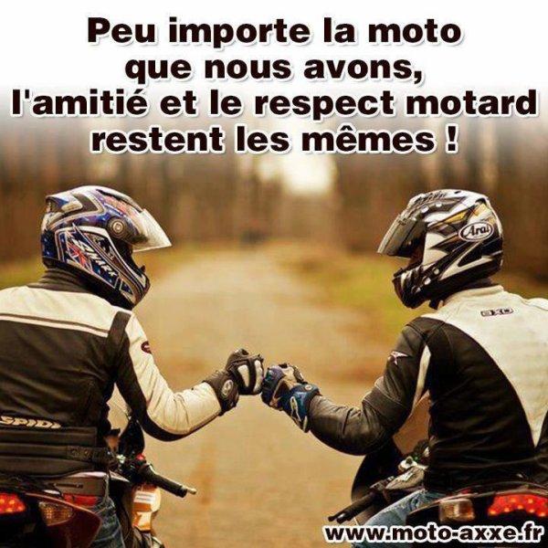 L'amitié et le respect...