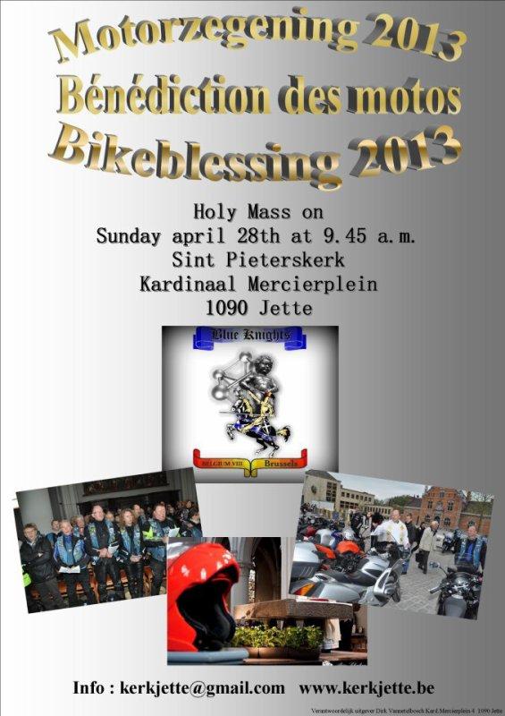 Bénédiction des motos Bruxelles ( Jette )