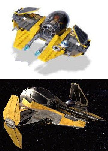 Comparatif intercepteur léger Eta-2 Actis d'Anakin Skywalker