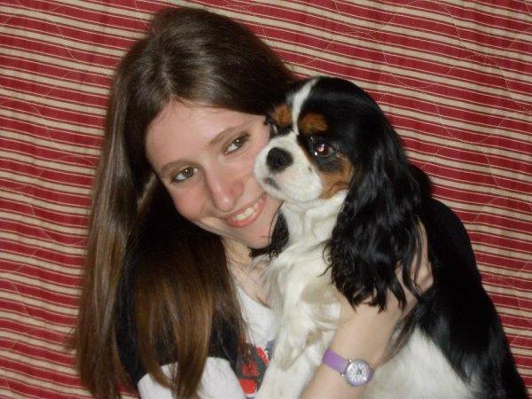 Moi et paqui la chienne de ma meilleure amie