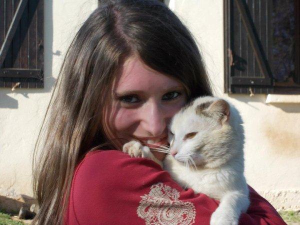 Moi et mon chat de coeur