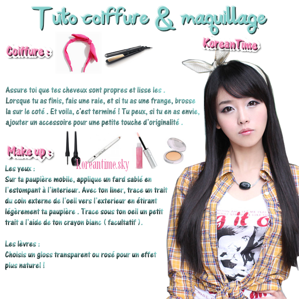Tuto Coiffure Maquillage Korean Time Annyeong