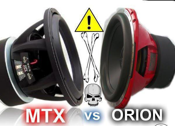 SUBWOOFER MTX VS ORION !!!!!!!!!