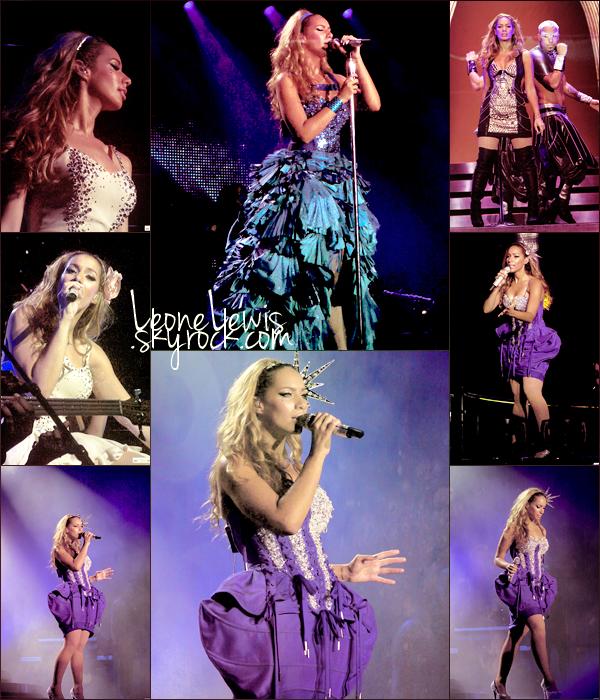 16/06/10 : Leona lors de son show filmé à l' O2 Arena à Londres, elle a performé devant 20 000 personnes.