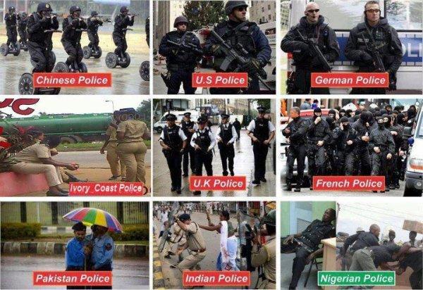la police dans le monde