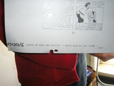 planche de dessin tintin a vendre