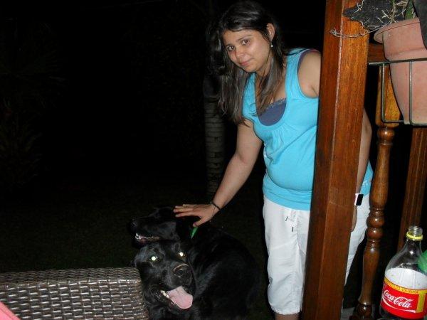 moi et le chien de mon tonton néné