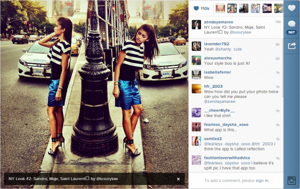 Photos du Instagram et du mobli de Zendaya aujourd'hui
