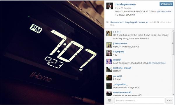 Nouvelles photos du Instagram de Zendaya et nouvelle vidéo de son Mobli