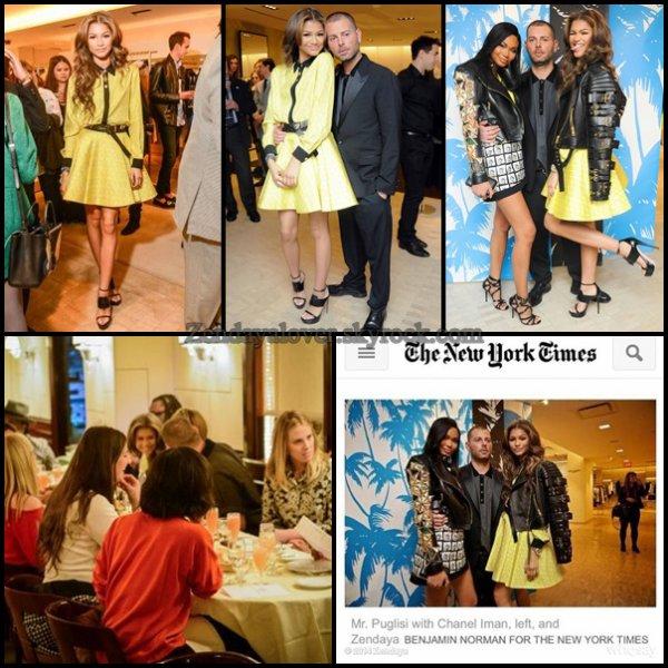 Zendaya à NYC !! le 30/04 et le 01/05