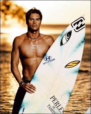 Surfeur tahiti