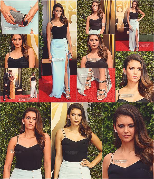 12.09.13 - Nina s'est rendue à la soirée Creative Arts à l'occasion des Emmy Awards ! Magnifique !