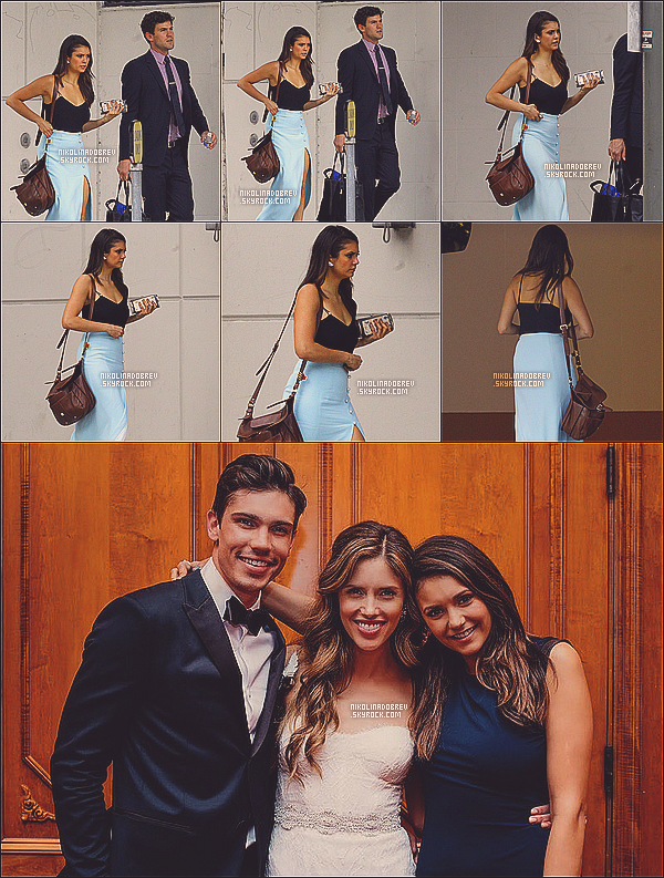 12.09.13 - Après les Emmy Awards, Nina et son tendre sont allés au mariage de Kayla Ewell !