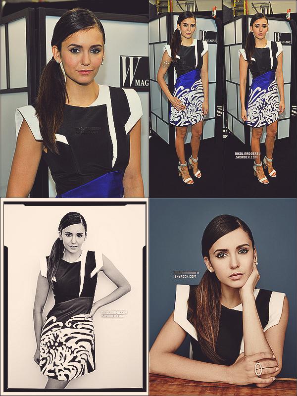 """18.09.13 - Nina est allée à la """"W Magazine NKPR IT Lounge Studio"""" où elle a fait deux portraits. Sublime !"""