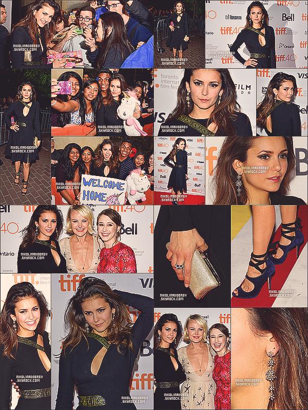 """19.09.13 - Nina est allée à la première du film """"The Finals Girls"""" au festival du film de Toronto ! Top !"""