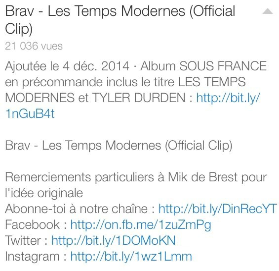 """BRAV """"Les Temps Modernes"""""""