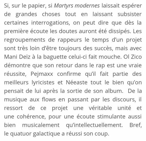 MARTYRS MODERNES -